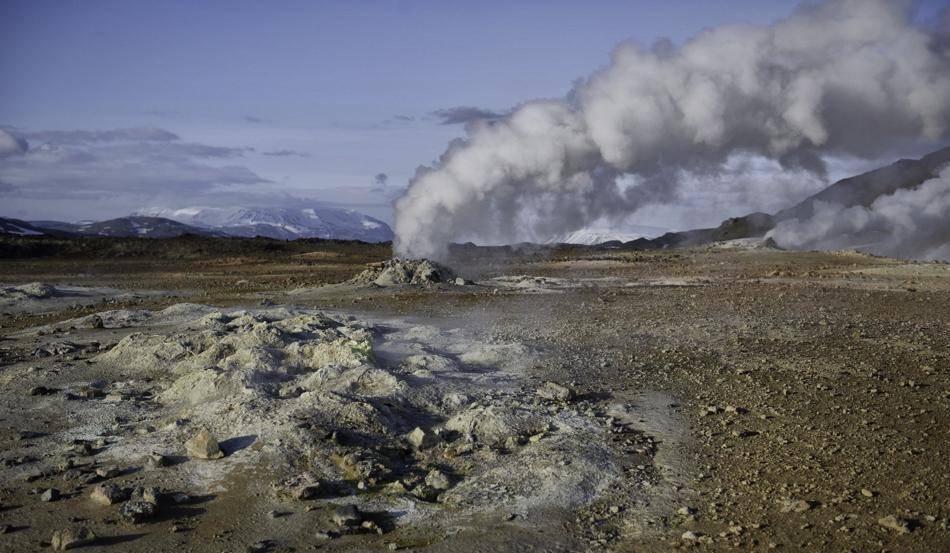 geothermische bronnen van Hverir
